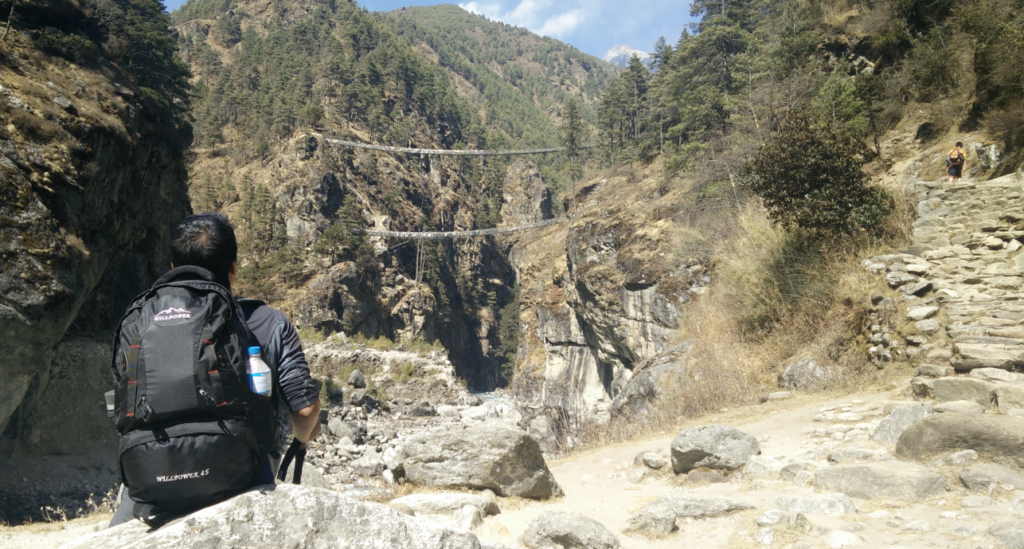 double bridge of hillary near namche bazaar