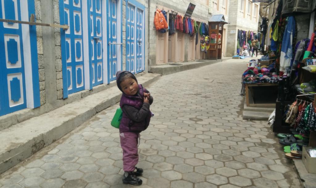 kid at namche bazar